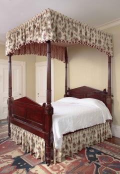 Carved Mahogany Four Posted Bed - 1226526