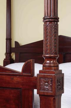 Carved Mahogany Four Posted Bed - 1226528