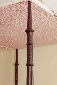 Carved Mahogany Four Posted Bed - 1226529