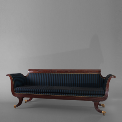 Carved Mahogany Grecian Sofa in the manner of Duncan Phyfe - 37618