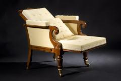 Carved Mahogany Mechanical Arm Chair - 393269