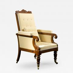 Carved Mahogany Mechanical Arm Chair - 396920