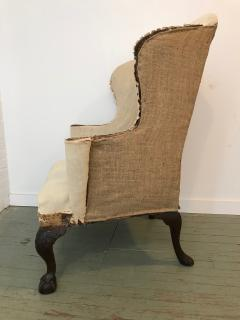 Carved Mahogany Wing Armchair - 504184