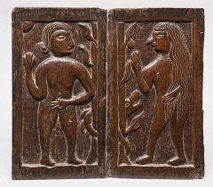 Carved Panels Adam Eve - 337695