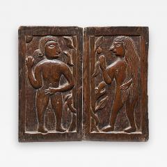 Carved Panels Adam Eve - 338070