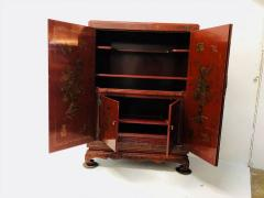 Carved Red Asian Armoire - 462159