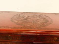 Carved Red Asian Armoire - 462161