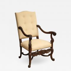 Carved Walnut Armchair - 1241710