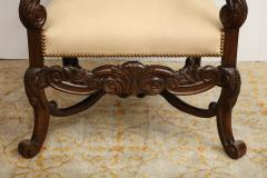 Carved Walnut Armchair - 872771