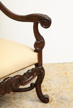 Carved Walnut Armchair - 872774