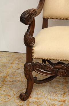 Carved Walnut Armchair - 872775