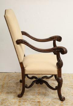 Carved Walnut Armchair - 872776