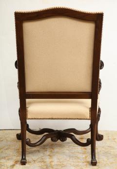 Carved Walnut Armchair - 872779