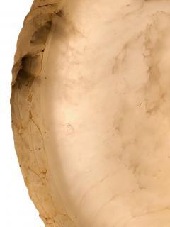 Carved White Alabaster Light Fixture - 1081773