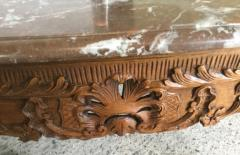 Carved Wood Center Table With Marble Top France Eighteenth Century - 1225164