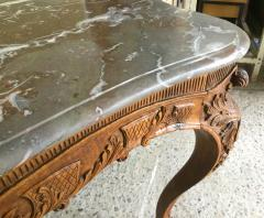 Carved Wood Center Table With Marble Top France Eighteenth Century - 1225168