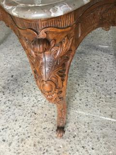Carved Wood Center Table With Marble Top France Eighteenth Century - 1225171