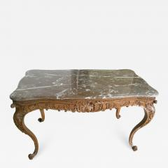 Carved Wood Center Table With Marble Top France Eighteenth Century - 1225502