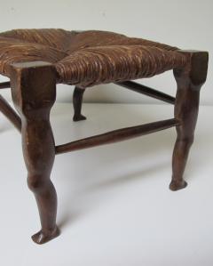 Carved Wood Legs Legs Stool - 238338
