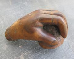 Carved Wood Pipe with Hand - 379206