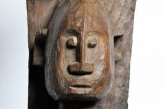 Carved Wooden Bamana Tribe Post - 739645