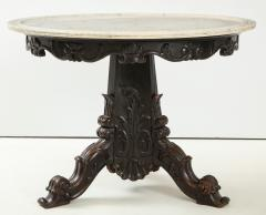 Carved and Ebonized Anglo Indian Center Table - 1268446
