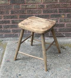 Carved and Turned Windsor Stool - 361246
