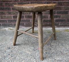 Carved and Turned Windsor Stool - 361249
