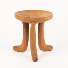 Carved hardwood Ethiopian jima stool - 1932324