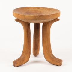 Carved hardwood Ethiopian jima stool - 1932325