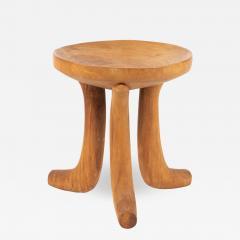 Carved hardwood Ethiopian jima stool - 1944176