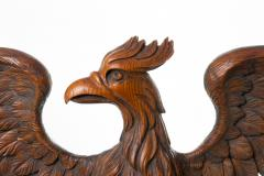 Carved wooden eagle with wings spread - 1725671