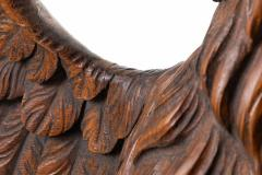 Carved wooden eagle with wings spread - 1725673