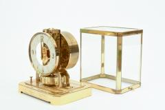 Case Glass Brass Jaeger Le Coultre Desk Clock - 944889