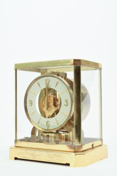 Case Glass Brass Jaeger Le Coultre Desk Clock - 944896