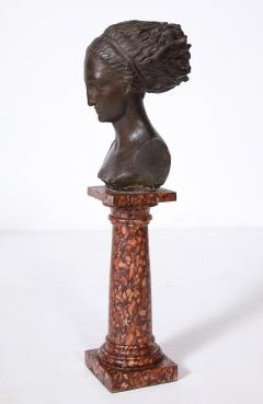 Cast Gesso Bust of a Classical Roman Woman - 1941152