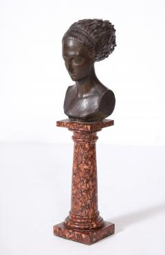 Cast Gesso Bust of a Classical Roman Woman - 1941153