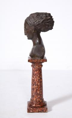 Cast Gesso Bust of a Classical Roman Woman - 1941155