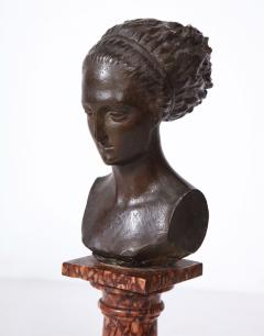 Cast Gesso Bust of a Classical Roman Woman - 1941156