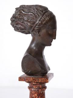 Cast Gesso Bust of a Classical Roman Woman - 1941157