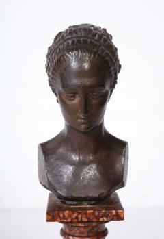 Cast Gesso Bust of a Classical Roman Woman - 1941158