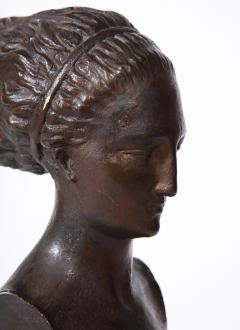 Cast Gesso Bust of a Classical Roman Woman - 1941159