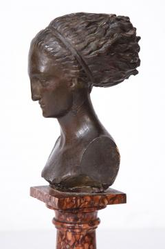 Cast Gesso Bust of a Classical Roman Woman - 1941160