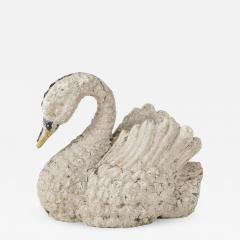 Cast Iron Painted Swan - 1582788