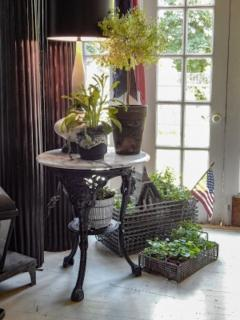 Cast Iron and Marble Ocassional Tables - 1756297