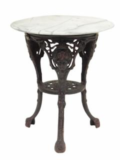 Cast Iron and Marble Ocassional Tables - 1756298