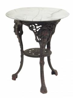 Cast Iron and Marble Ocassional Tables - 1756299