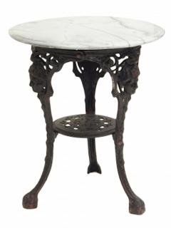 Cast Iron and Marble Ocassional Tables - 1756300