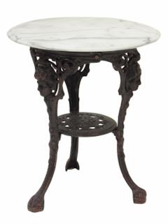 Cast Iron and Marble Ocassional Tables - 1756301