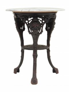 Cast Iron and Marble Ocassional Tables - 1756302